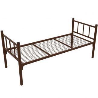 Кровать одноярусная КМ-1.51 COOL коричневая в Перми