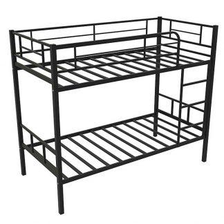 Кровать двухъярусная металлическая - СЕВИЛЬЯ-2 (Redford) ЧЁРНАЯ