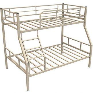 БЕЖЕВАЯ двухъярусная кровать из металла ГРАНАДА-1 (Redford)