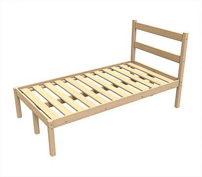 Кровать из дерева КД/1-200/120 Пермь с одним ярусом 2000*1200 мм