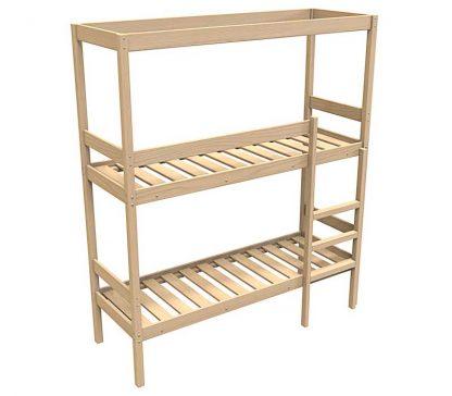 Кровать из сосны КД/2-ШТ-2000*900 для двух человек. Двухъярусная
