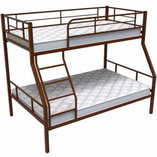 Двухъярусная кровать с матрасами купить в Перми кровать Гранада 1 коричневая