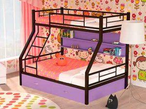 Двухъярусная кровать с матрасами Гранада 1 коричневая Пермь