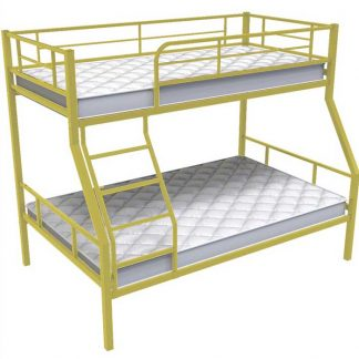 Двухъярусная бежевая кровать с матрасами Гранада-1 в Перми