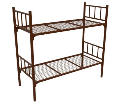Кровать металлическая в Перми КМ-2.51 COOL коричневая купить со склад