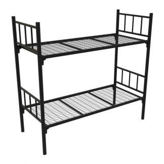 Железная двухъярусная кровать в Перми КМ-2.51 COOL чёрного цвета