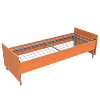 Кровать металлическая с ЛДСП с царгами - МКДС-1Ц/1900*800