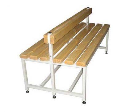 Скамейка для раздевалок двухсторонняя со спинкой - CК-2C-1000