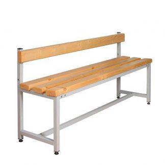 Скамейка со спинкой деревянная на металлокаркасе CК-1C-1000 Пермь