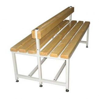 Двухсторонняя скамейка из дерева и металла - CК-2C-2000 ПЕРМЬ