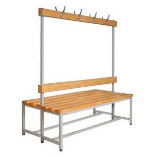 Скамейка с крючками для раздевалок, модель CК-2В-2000 - Пермь