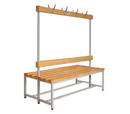 Скамейка с вешалкой двухсторонняя для раздевалок - CК-2В-1000