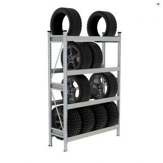 Стеллаж для шин и дисков СШ-02 - 1300*2000*500 мм (Ш*В*Г) 4 яруса
