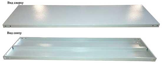Полки сборного стеллажа СГР - 1000*300*25 мм с усилением