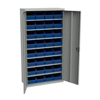 Шкаф с пластиковыми контейнерами для хранения мелочей в Перми