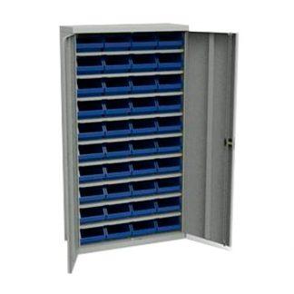 Шкаф для метизов с пластиковыми ящиками, двухдверный - Пермь