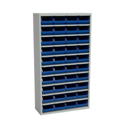 Стеллаж с пластмассовыми ящиками закрытый - ЗС.5003.40 (без дверей)