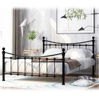 Кровать двуспальная металлическая ЭЛЬДА (чёрная)