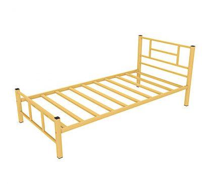 Кровать в спальню КАДИС бежевая металлическая