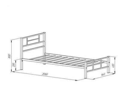 Односпальная кровать металлическая Кадис белая Пермь