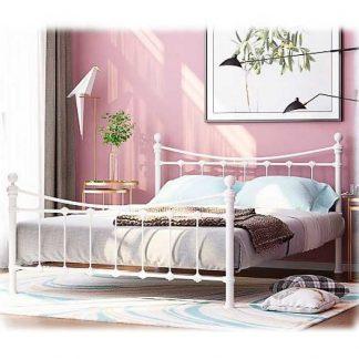 Двуспальная железная кровать ЭЛЬДА (белая)