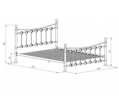 Двуспальная железная кровать ЭЛЬДА белого цвета