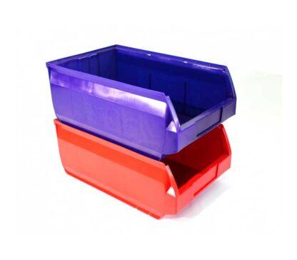 Ящики пластиковые для стеллажа стойки