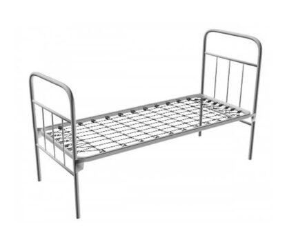 Кровать солдатская, пружинная, металлическая, одноярусная