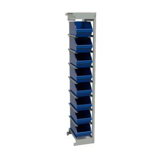 Стеллаж дополнительный с пластиковыми ящиками ОС-П.5004.8 (доп.секция)