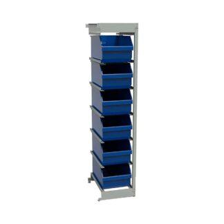 Стеллаж открытый с пластиковыми ящиками ОС-П.5006.6 (приставная секция)