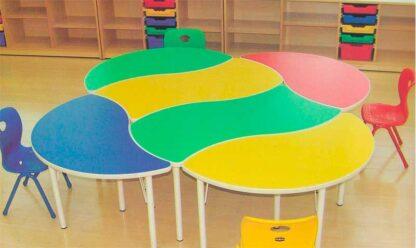 Детский стол Капля в сборе