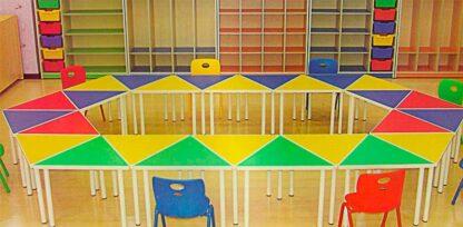 Стол детский «Треугольник» в сборе